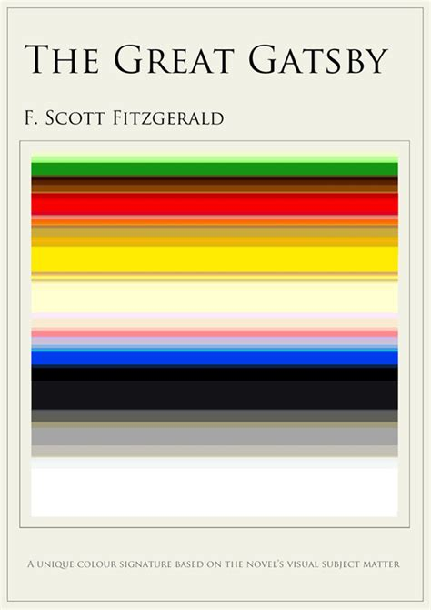 great gatsby colors what your favorite book looks like in colors arts