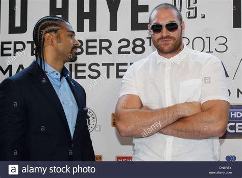 British heavyweight boxer Tyson Fury attends a press ...