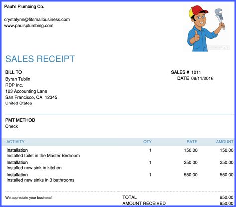 how to create send sales receipts in quickbooks online