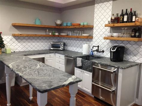 Soapstone Countertops. Calcutta Marble. Rustic Glam Bedroom. Bucks County Soapstone. Front Yard Plants. Pebble Backsplash. Plug In Light Fixture. Rustic Wine Rack. Marble Fireplace