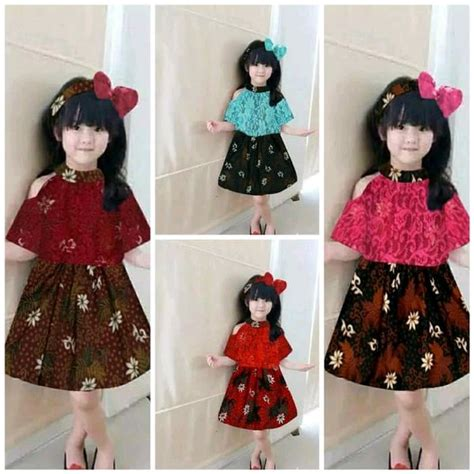 jual dress batik batik kids baju batik pesta anak