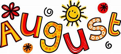 August Clip Month Cartoon Text Doodle Whimsical