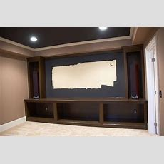 Our Home Theater Is Almost Complete The Cabinets Were