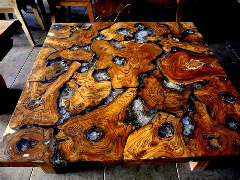 CRACKED RESIN TEAK ROOT TABLE   YouTube