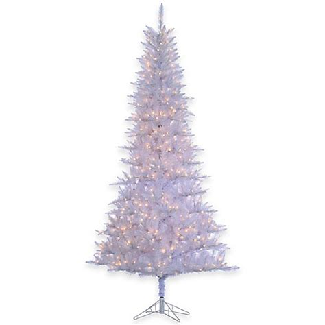 tiffany tinsel 9 foot pre lit christmas tree in white with