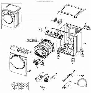 Parts For Samsung Dv448agp  Xaa-0001  Main Assy Parts