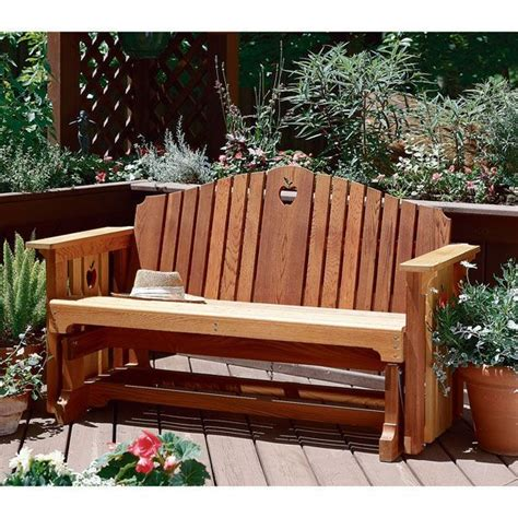 buy woodworking project paper plan  build porch glider