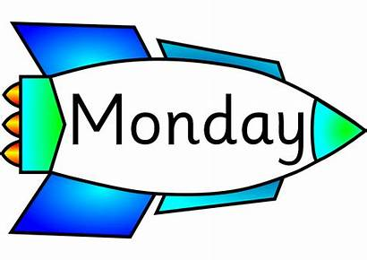 Monday Week Days Clipart Clip Calendar Happy