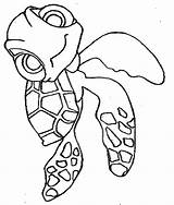 Nemo Finding Coloring Pages Turtle Disney Sheets Printable Squirt Stencil Characters Leatherback Character sketch template