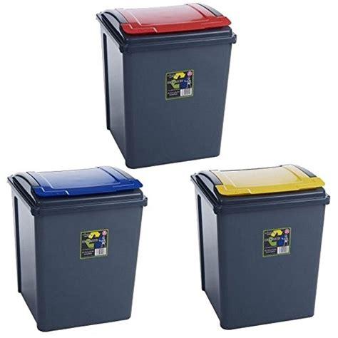 poubelle cuisine jaune lot de 3 poubelles de recyclage 3669100460724 cuisine