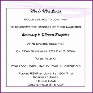 Wedding evening invitation wording for Evening wedding invitation wording from bride and groom