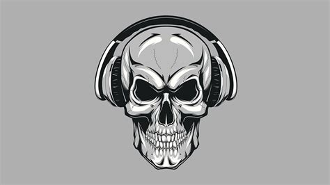 Cool Skull With Headphones Wallpapers Wallpaper Cave