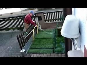 benutzung der hundetoilette neu youtube With französischer balkon mit garten toilette mit wasserspülung