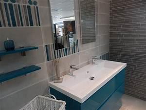 Meuble Salle De Bain Turquoise : faience salle de bain turquoise 1 carrelages roger ~ Dailycaller-alerts.com Idées de Décoration