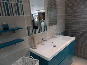 cuisine mur bleu turquoise With salle de bain gris bleu