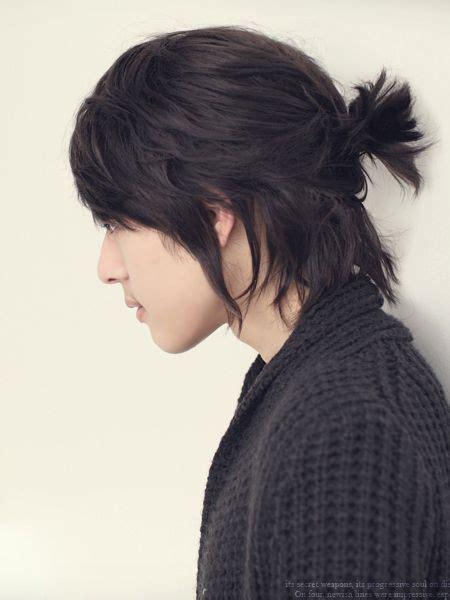 mens korean pop star shaggy hair wig asian hair korean