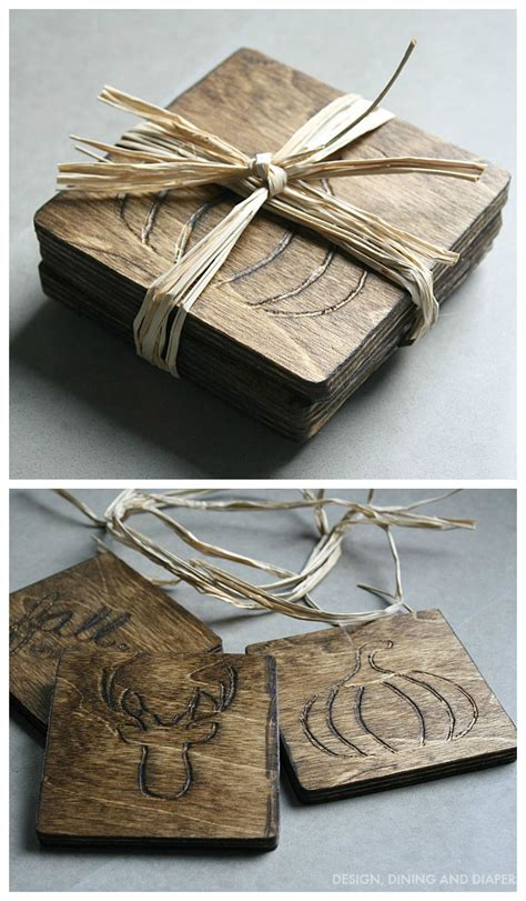 diy wood coasters dremel projects wood burning crafts