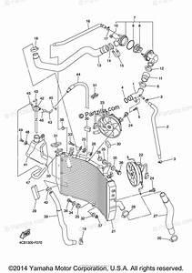 Yamaha Motorcycle 2007 Oem Parts Diagram For Radiator Hose