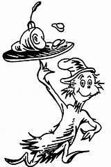 Eggs Ham Seuss Clip Coloring Dr Cat Clipart Hat Printable Characters Advertisement Google sketch template