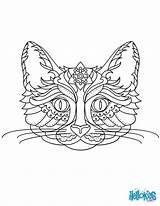 Mandala Cat Coloring Pages Animal Printable Adult Mandalas Hellokids Animals Pretty Tattoo Worksheet Cats Amuse Visit Pintura sketch template