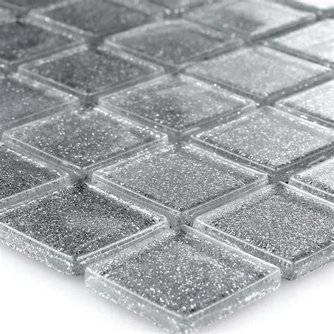 Fliesen Mit Glitzer by Glasmosaik Fliesen Silber Glitzer 25x25x4mm Ebay