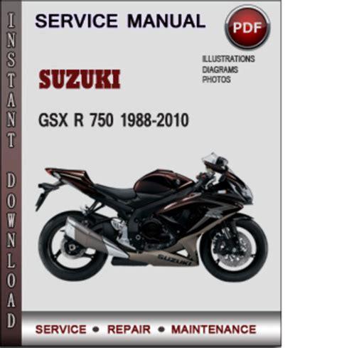 suzuki gsx r 750 1988 2010 factory service repair manual p