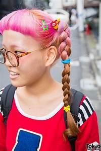 pink braids glasses w aymmy top plaid skirt spinns