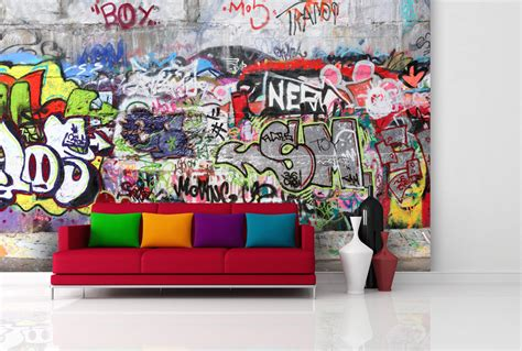 Jugendzimmer Tapeten Ideen by Graffiti Tapeten G 252 Nstig Kaufen Real De Avec