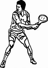 Tennis Coloring Pages Court Playing Kid Printable Racket Getcolorings Wecoloringpage sketch template