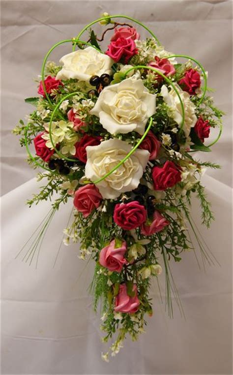 silk country style bouquet  rose   hitchedcouk