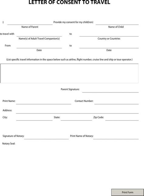 notary signature template template business