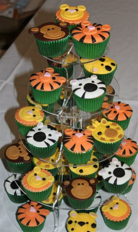 safari cupcakes ideas  pinterest