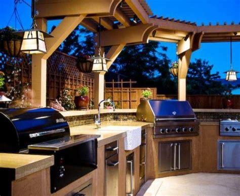 cuisine exterieure moderne barbecue jardin idées et astuces déco originales et