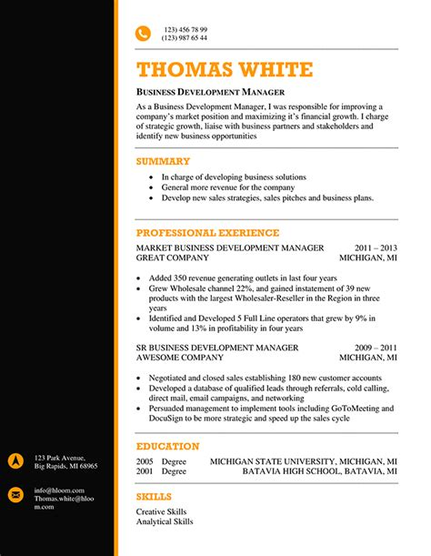 Using this template, you can easily create the good resume with clean, minimalist and modern look. 66 Modern Resume Templates | Hloom