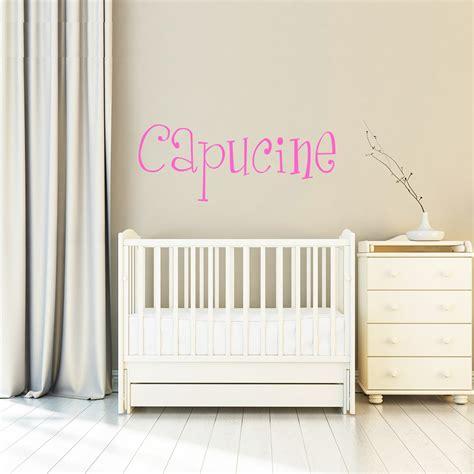 stickers chambre bébé personnalisé sticker prénom personnalisé enfants délicieux stickers
