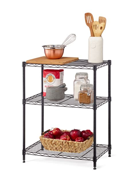 small wire rack 3 tier multi purpose wire storage rack black wire