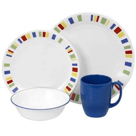 corelle dinnerware livingware sets dishes piece memphis vajilla vitrelle service dinner glass ware square resistant chip break bowl watercolors bruchfest