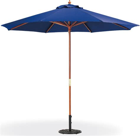 9 polyester market umbrella in navy modern outdoor
