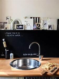 Küche Deko Wand : k che i schwarze wand i bilder i bilderleiste i diy i reversible vorwand i deko i minza will ~ Whattoseeinmadrid.com Haus und Dekorationen