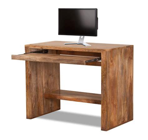 small wood computer solid mango wood computer desk casa bella handcrafted