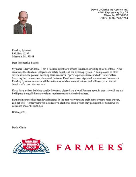 Farmers Insurance Review Letter of EverLogs™ by EverLog ...
