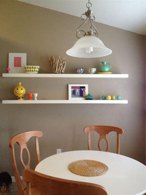 ikea lack shelves  kitchen area displays