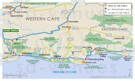 map   garden route garden route bliss