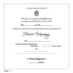 find good wordings  indian housewarming invitation