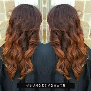Ombré Hair Auburn : auburn copper ombre balayage and layers the art of hair instagram ~ Dode.kayakingforconservation.com Idées de Décoration