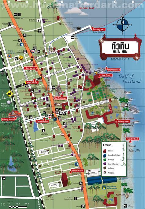 hin hua map thailand maps area travel beach google bangkok gerbera thai guide china places