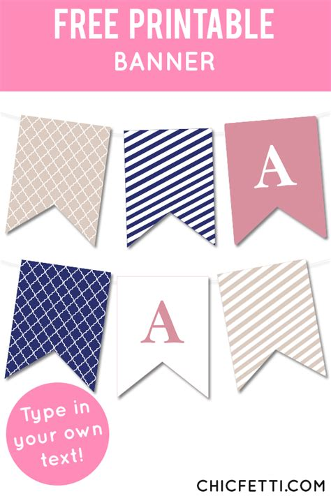 quatrefoil  striped bunting banner  kids