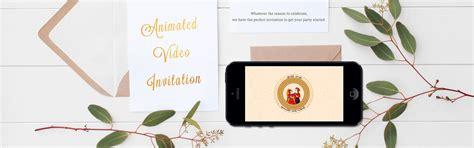 wedding invitation video maker  animated  card