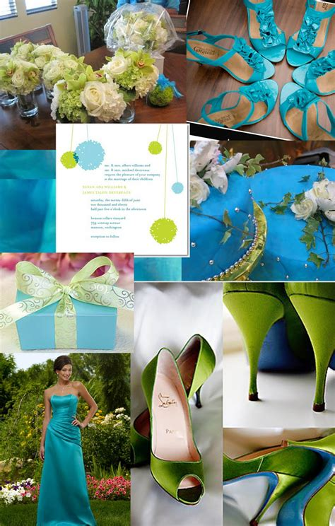 weddingzilla blue green turquoise wedding inspiration board