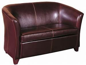 petit canap club en crote de cuir de vachette petit canap With boutique canape cuir